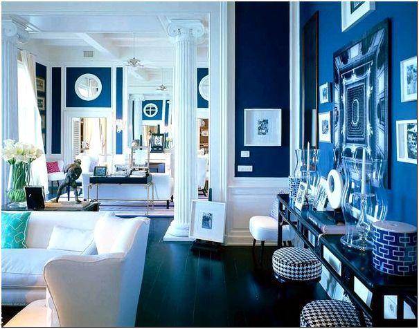 Фото — 48 Оттенки синего цвета в интерьере