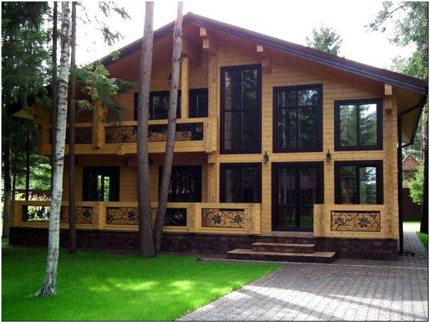 Фото 7 – Дачный дом из натурального дерева