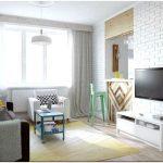 Современный дизайн двухкомнатной квартиры в светлой цветовой гамме