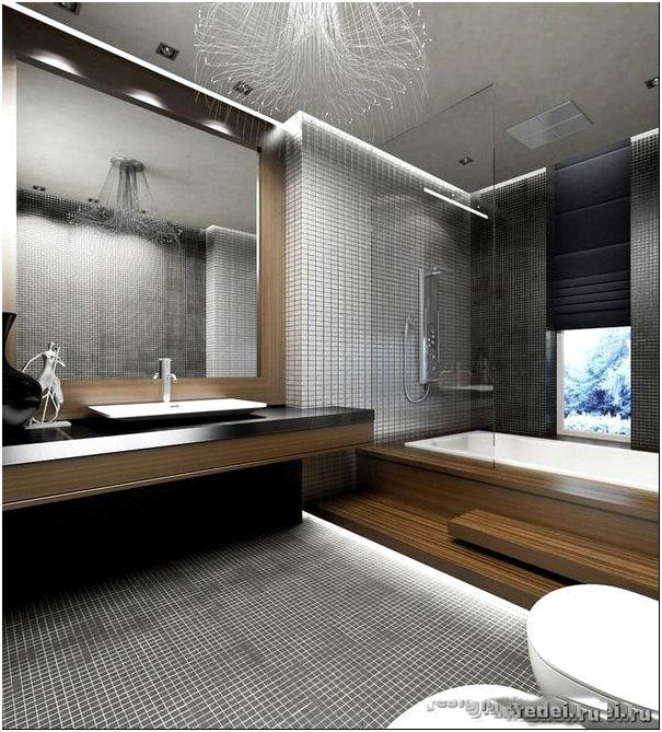 дизайн интерьера ванной комнаты и санузла