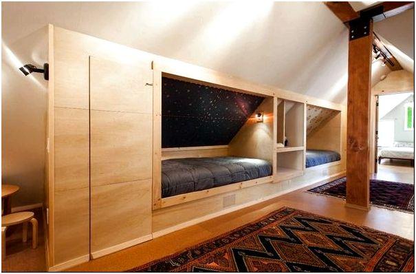 Фото 12 — Детская комната: вариант встроенных спальных мест