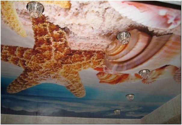 Фото 3 – Натяжные глянцевые потолки с фотопечатью