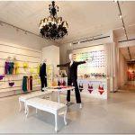 Красочный дизайн магазина модной одежды cosabella от студии turett collaborative architects, нью-йорк