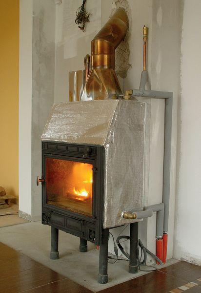 Воздушное отопление дома камином