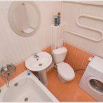Размещение стиральной машины в маленькой ванной комнате