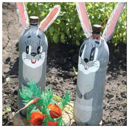 34 Поделки из бутылок пластиковых для сада пошаговая инструкция