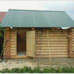 Строим баню в дачном доме