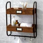 Как выбрать полки для ванной: виды и материалы