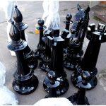 Большие шахматы и большие вазоны из стеклопластика