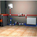 Система отопления: котел на твердом топливе с водяным контуром